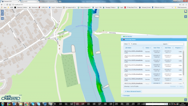 Onboard Web-Portal with Processed Multibeam Data.