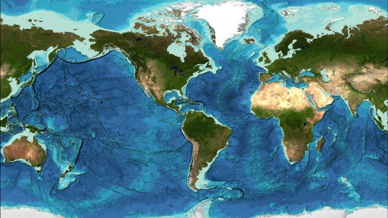 Definitive Global Map of Ocean Floor Doubles Data