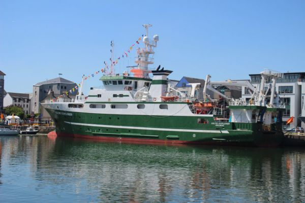 Marine Institute's Research Vessel Celtic Explorer.
