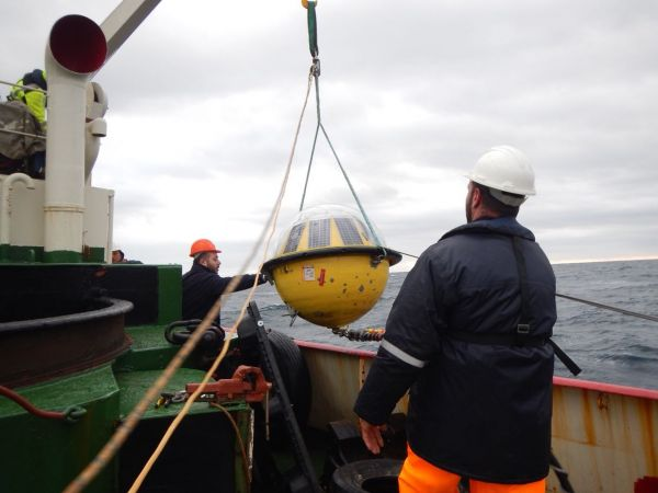 Deployment of wave buoy