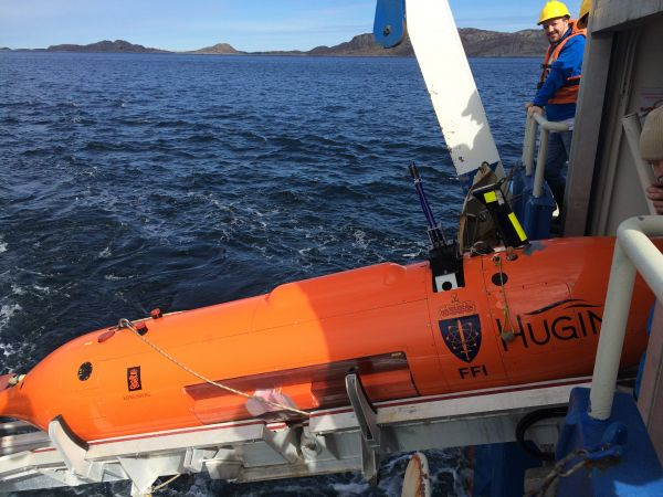 The HUGIN AUV collected bathymetric data and identified pre-set targets.
