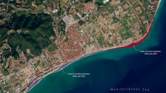 Measuring Shoreline Retreat with Earth Observation Satellites