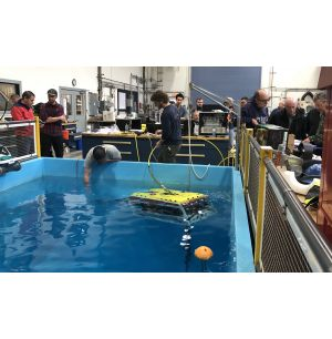 Electric Underwater Robotic Vehicle Supports Ocean Research