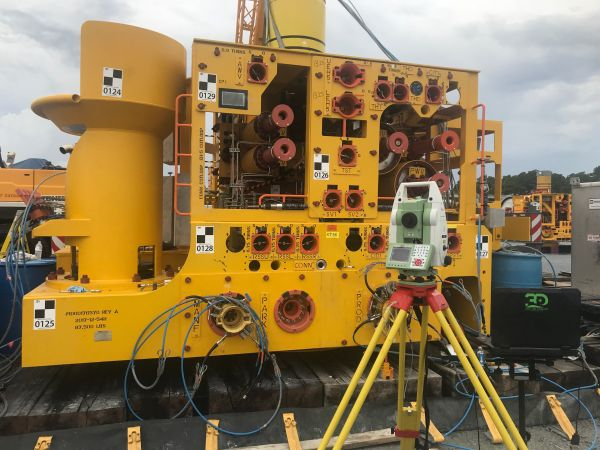 3D Terrestrial scan for subsea placement and dimensional control.