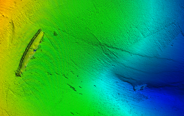 Bathymetric Lidar imagery of the S-28.