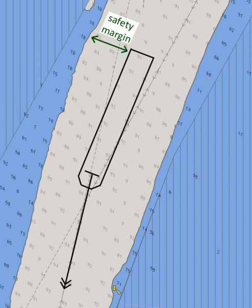 Figure 2: bENC AU6CNS01  (overlaid on the harbour ENC).