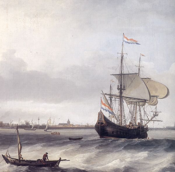 Fluyt ships were developed for the transport of bulk goods and were widely used in Baltic Sea shipping. (Courtesy: Nederlands Scheepvaartmuseum Amsterdam)
