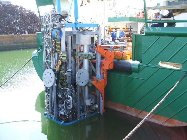 The MeBO seafloor drill platform installed on Celtic Explorer.