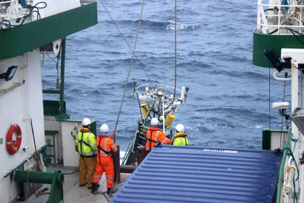An early start this morning for the crew as they retrieved the M6 buoy.