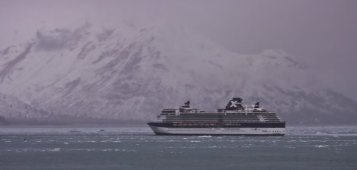 Cruiseship in the antarctic